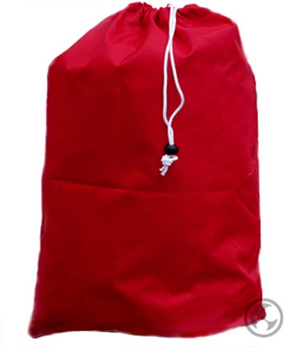 Large Laundry Bag with Drawstring and Locking Closure - Color: Red,Size: 30x40