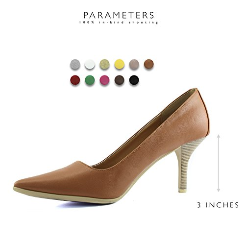 Non with Classic Pumps DailyShoes Women's Slip Toe Shoes High Dress Sole Tan Special Fashion Rubber Pointed Heel vC0fCwq