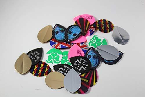 (US Darts - 10 Sets (30 Flights) Mixed Pear Dart Flights Assorted Wholesale)