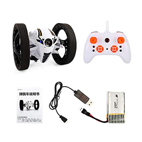 Mini Drone Jumping RC Car Bounce Car Robot Toy with Remote Control White