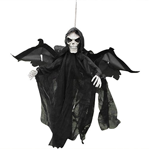 Halloween Hanging Flying Bat Ghost Moving Eyes Wings Sound C