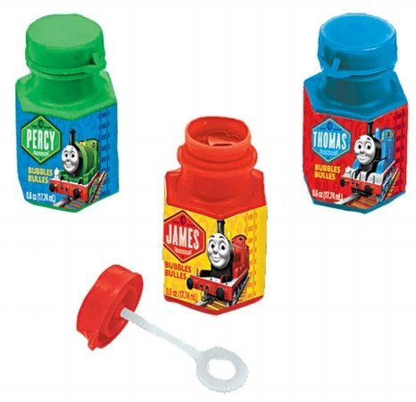 Cute Thomas The Tank Mini Bubble Birthday Party Favour Toy and Prize Giveaway, 0.6 oz., Pack of 12.