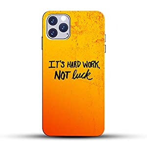 COLORFLOW (Quotes – It's Hard Work, NOT Luck) Black Font Texture Yellow Abstract Design Lovely Attractive Printed Hard…