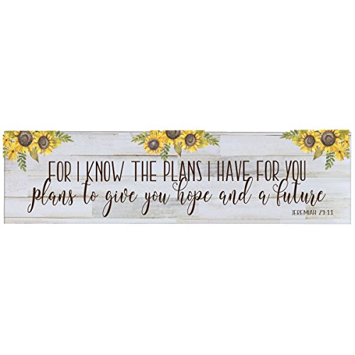 LifeSong Milestones for I Know The Plans I Have for You Wall Art Decor Print Decoration Sign for livingroom entryway Kitchen Bedroom (for I Know)
