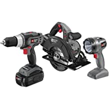 Porter Cable 18 Volt Battery Operated Cordless Drill Circular Saw Flashlight 3 pc Tool Set by PORTER-CABLE