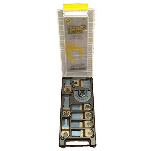 19 x SabreCut BB_SPK19 Premium Fast Fit OMT Mix Blades Case Set for Dewalt Bosch Fein Makita Milwaukee Craftsman Chicago Ridgid Ryobi Rockwell (HyperLock) Porter Cable Multi Tool Accessories