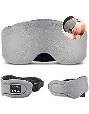 HEYMIX Bluetooth Sleeping Eye Mask Headphones,5.0 Wireless Bluetooth Headset Music Travel Sleep Headset Built-in Microphone is Adjustable and Washable,Perfect for Travel & Sleeping (Grey)