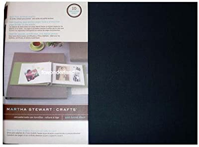 "EK Success Martha Stewart Crafts Black Fits 11 x 8.5"" Pages Scrabooking Post Bound Album"