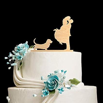 Adorno para tarta de aro, aro, aro, cascada, boda, boda ...