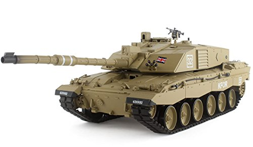 2.4Ghz Radio Remote Control 1/16 Scale British Challenger 2 Air Soft RC Battle Tank Smoke & Sound R/C