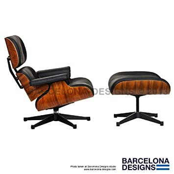Eames Lounge Chair U0026 Ottoman Style In Italian Leather Inspired By The Herman  Miller Eames Lounge