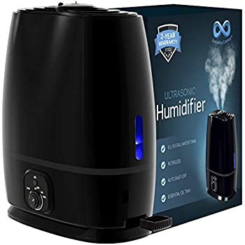 Everlasting Comfort Humidifiers for Bedroom (6L) with Essential Oil Tray (Black)
