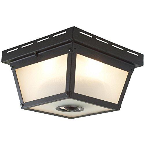 Square Black Finish Motion Sensor Outdoor Ceiling Light