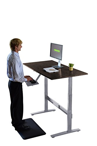 RISE UP Electric Adjustable Height Standing Desk + Beautiful Black Bamboo Desktop| Memory Keypad| 2 Motors| Affordable Ergonomic Sit Stand Office Desk by Uncaged Ergonomics (Image #2)
