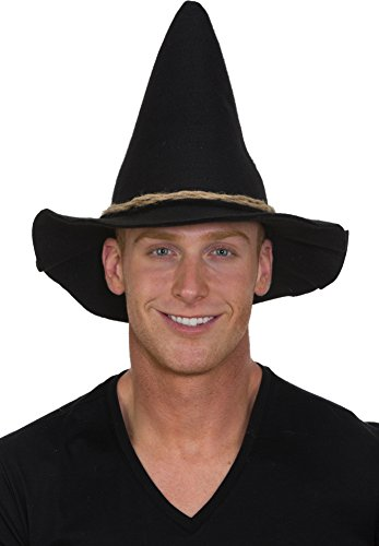 Jacobson Hat Company Black Scarecrow Hat w Rope Band Adult -