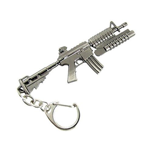 Flint Gray Grenade Launcher M4 Carbine Design Pendant Metal Keyring