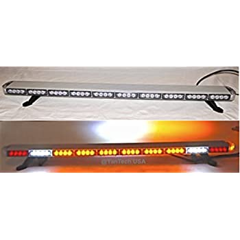 Amazon 50 amber clear super bright led light bar flashing 50 amber clear super bright led light bar flashing warning tow truck wrecker police snow aloadofball Choice Image