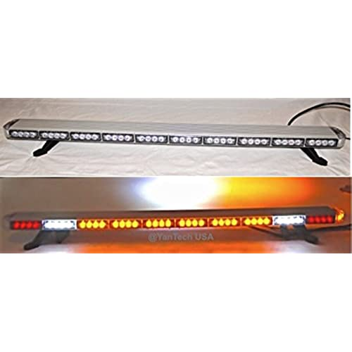 Tow truck light bar amazon 50 amber clear super bright led light bar flashing warning tow truck wrecker police snow plow with braketurn signal lights and cargo lights aloadofball Gallery