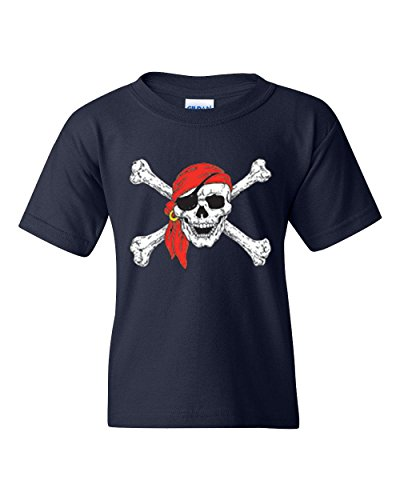 Christmas T-Shirt Jolly Roger Skull Crossbones Halloween Ugly Sweater Xmas Party Unisex Youth Shirts
