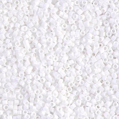 Miyuki Delica 11/0 Cylinder Seed Beads - White - DB0200 5 grams