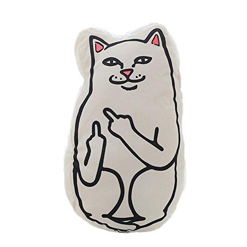 Dutch Brook Creative Middle Finger Funny Cat Pillow Cushion Plush (Cat Pillow)