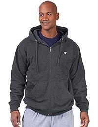 Men's Big & Tall Full-Zip Fleece Hooded Jacket
