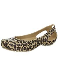 crocs Women's Kadee Leopard Print Ballet Flat