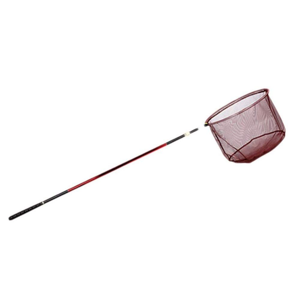 MYHXC Foldable Fishing Net Fish Landing Net, Collapsible Telescopic Pole Handle, Durable Nylon Material Mesh, Catch and Release Coating Net, Safe Fish Catching or Releasing by MYHXC
