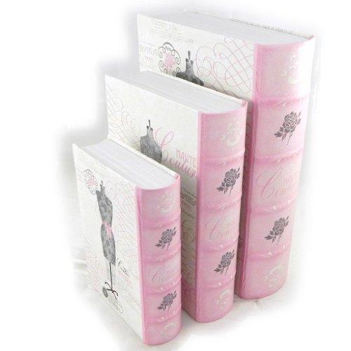 Les Trésors De Lily [I6129] - Trio of storage boxes 'Belle Epoque' rose gray.