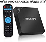 Goldenbox 2019 New International IPTV Box Receiver with Lifetime Subscription for 1600+ Global Live Channels Including North American European Asian Arabic South American Programs