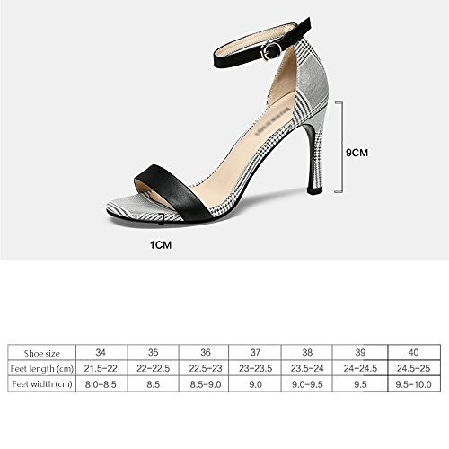 a tacco spillo B GYHDDP donna da Sandali moda B 37 estivi cinturini alto Colore alla caviglia dimensioni tacco zwqxv8dp