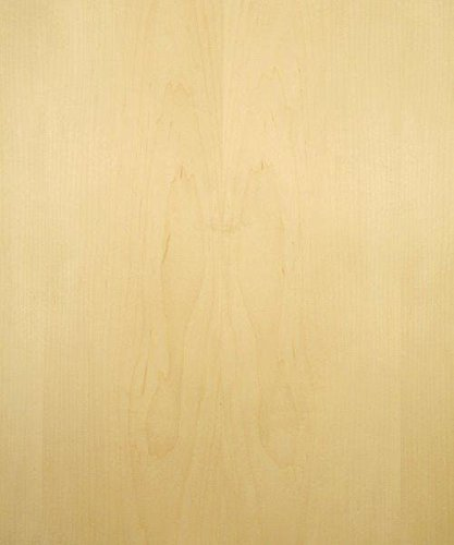 Maple Wood Veneer, Flat Cut, Premium Grade, 4'x8' PSA Adhesive Back