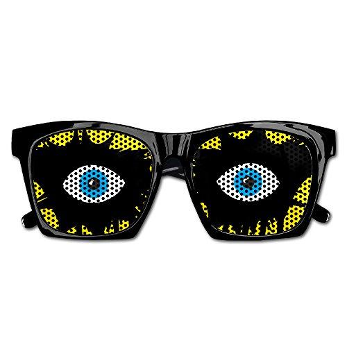 Demon Eyes Unisex Polarized Party Sunglasses Resin Frame Eyewear Favor Mesh Lens Sun Glasses