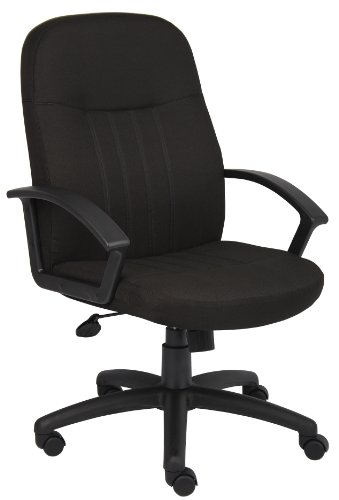 Boss Office Products B8306-BK Mid Back Fabric Managers Chair in Black
