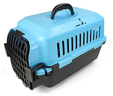 CTZLL Caja de aire envío caja jaulas para mascotas perros y gatos mascotas bolsa plano jaulas jaulas gato , blue: Amazon.es: Hogar