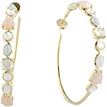 Ippolita Rock Candy 18K Yellow Gold Multi-Colored Stone Large Hoop Earrings