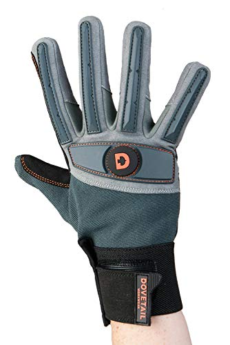(Dovetail Workwear Impact Protective Work Glove for Women, Blue/Grey, Small)