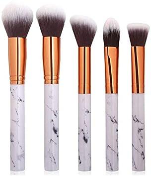 Pincel para maquillaje de maquillaje de mármol Pincel corrector en polvo Eyeshadow Eyebrow Brush brochas maquillaje brocha maquillaje: Amazon.es: Belleza