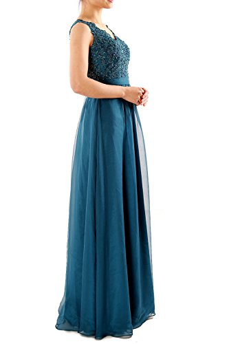 Dresses Evening Party Long MACloth Neck Lace V Chiffon Women Gown Prom Burgunderrot Formal wxap0xv1