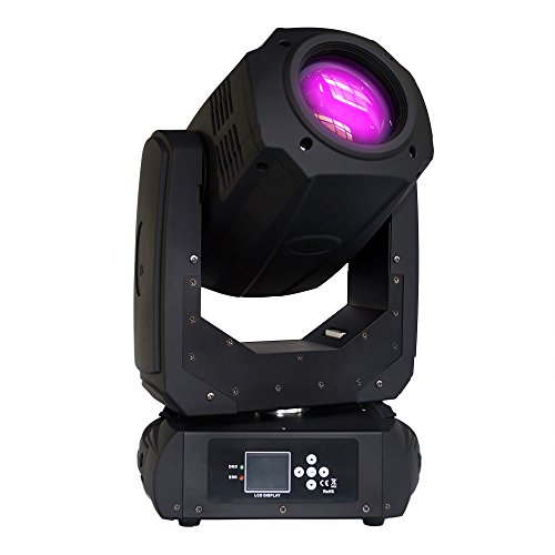 STSLITE Moving Head Spot 200W II LED with Color Gobo Wheel Prism Stage Lights of Pretty for Party Pub Theatre Dancing Family Night Club of Stage Lighting -