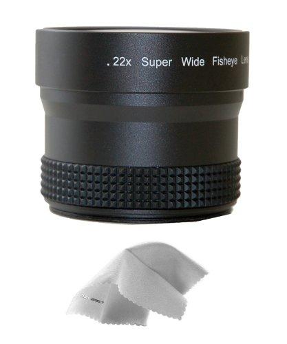 Panasonic HC-V720 0.21x-0.22x High Grade Fish-Eye Lens + Nwv Direct Micro Fiber Cleaning Cloth (Panasonic V720 compare prices)