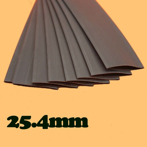 Heat Shrink Tubing 25.4 mm Black Tube Sleeving Kit Pack.