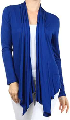f689432b462 curvyluv.com Women s Plus Size Long Sleeve Cardigan Open Front Draped  Sweater Casual