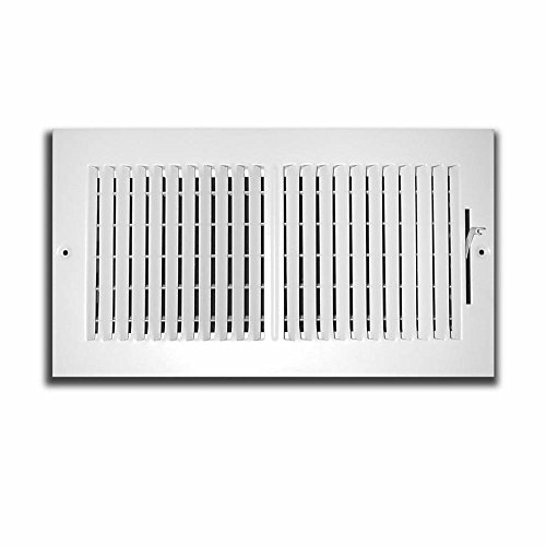 (Truaire CA102M  10X06(Duct Opening Measurements) 2-Way Aluminum Supply 10-Inch by 6-Inch Sidewall or Ceiling Aluminum Register Grille,)