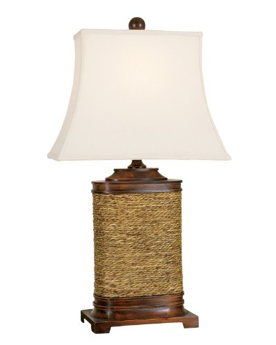 (Mario Lamps 05T708 Wood Seagrass Table Lamp)