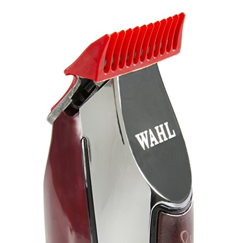 Wahl-Professional-Series-Detailer-8081-With-Adjustable-T-Blade-3-Trimming-Guides-116-inch-14-inch-Red-Blade-Guard-Oil-Cleaning-Brush-and-Operating-Instructions-5-Inch