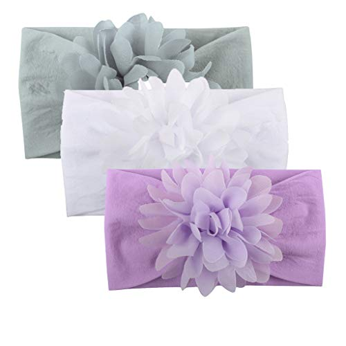 - 3PCS Babys Kid Girls Cute Chrysanthemum Floral Headband Non Slip Hairbands Accessories Mixpiju (D, 3PC)