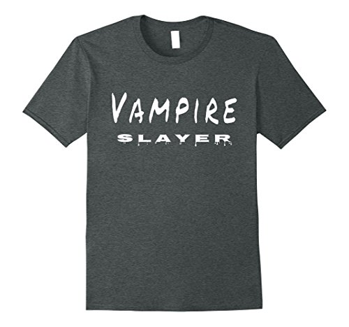 Vampire Slayer Halloween Costumes (Mens Vampire Slayer T Shirt XL Dark Heather)