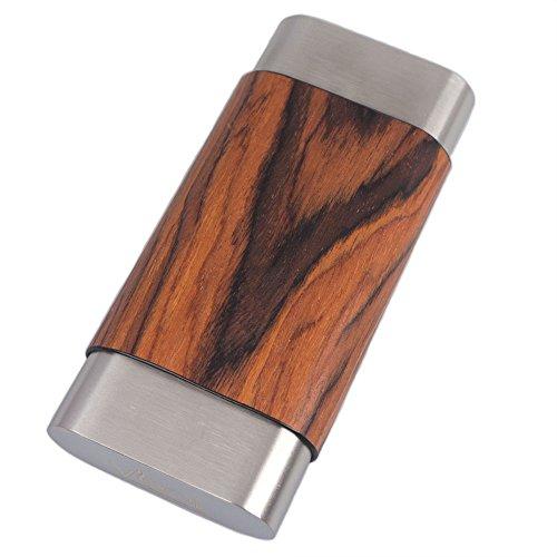 787 Terran Natural Wood & Steel Large Cigar Case ()