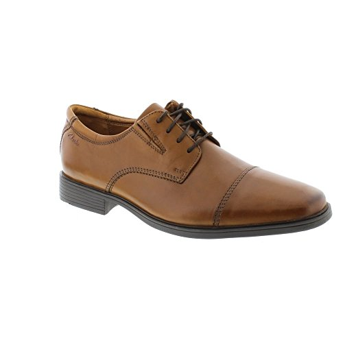 c5733093c79d outlet Clarks Tilden Cap - Dark Tan Leather (Brown) Mens Shoes ...